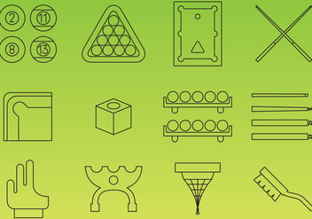 Billiard Icons - vector gratuit #358813