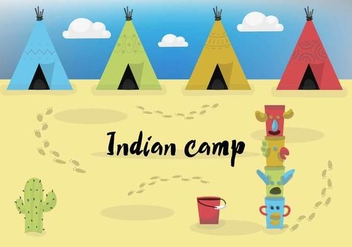 Free Vector Indian Camp - Kostenloses vector #358833