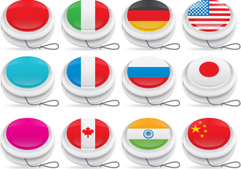 Yoyo Vectors with Flagss - vector gratuit #358843