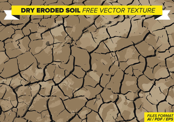 Dry Eroded Soil Free Vector Texture - бесплатный vector #358893