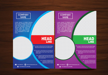 Modern Vector Brochure Flyer Vector Design - vector #358913 gratis