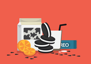 Free Oreo Vector Illustration #2 - vector gratuit #358963