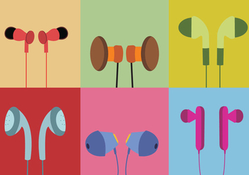 Various Ear Buds Vector - vector gratuit #358973