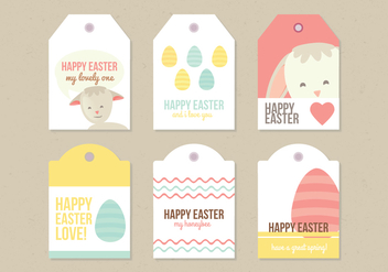Vector Easter Labels - бесплатный vector #359233