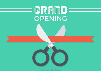 Free Flat Ribbon Cutting Vector Design - Free vector #359273