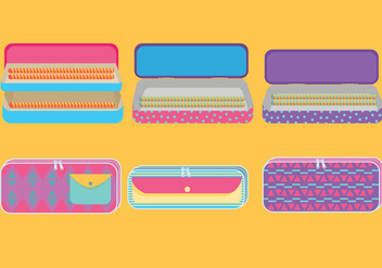 Pencil Case Vector - Free vector #359293