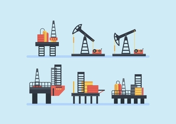 FREE OIL FIELD VECTOR - бесплатный vector #359403