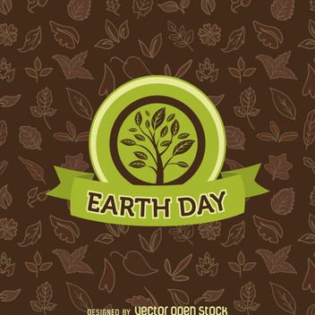 Earth Day tree emblem - vector gratuit #359413