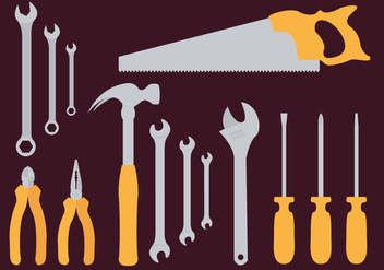 Monkey Wrench Tools Illustration Vector - Free vector #359453