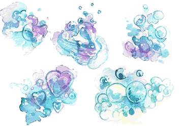 Handpainted soap Suds Vector Set - бесплатный vector #359463