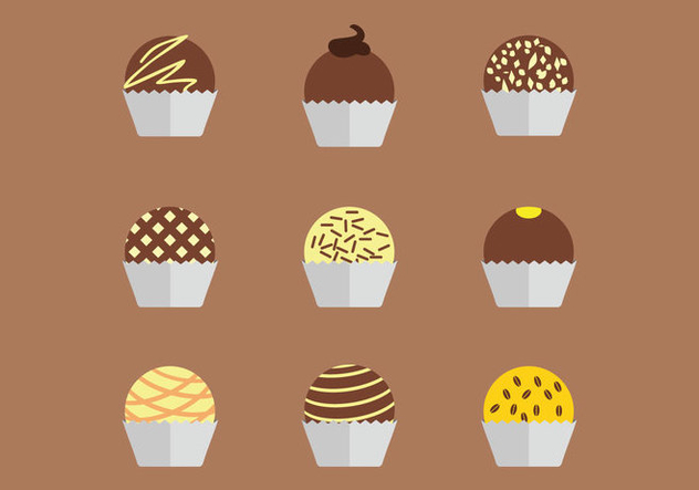 Chocolate Truffles Vector - Free vector #359663