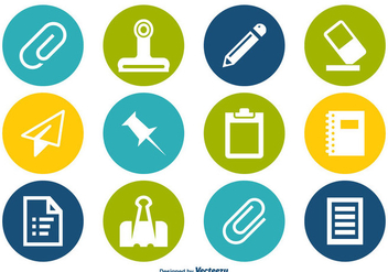 Paper Supplies Icon Set - Free vector #359773