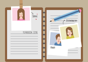 Sign My Yearbook Vector - Free vector #359783