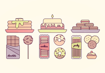 Vector Sweets Illustration - vector #359793 gratis