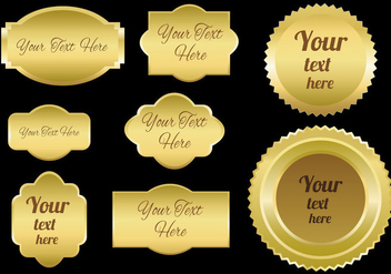 Free Gold Emblems Vector - бесплатный vector #359803