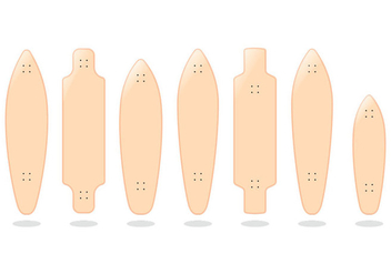 Hawaiian Longboard Vectors - бесплатный vector #359843