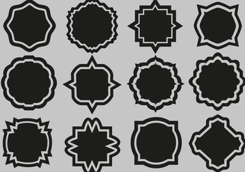 Free Labels Set Vector - vector #359863 gratis