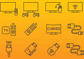 HDMI And Screen Icons - Free vector #359913