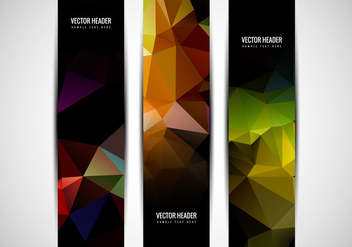 Free Vector Colorful Polygon Header - Free vector #359953