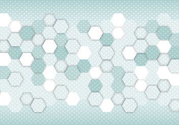Free Abstract Hexagon Vector - vector gratuit #359973