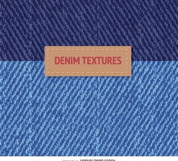 2 blue denim textures - vector gratuit #360053