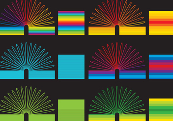 Colorful Slinky Toys - vector gratuit #360143
