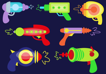 Laser Guns Vector Illustrations - Free vector #360153
