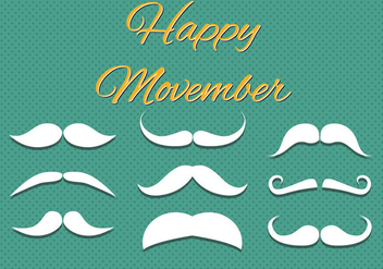 Free Happy Movember Vector - vector gratuit #360253