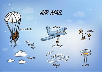 Free Air Mail Vector - vector gratuit #360293