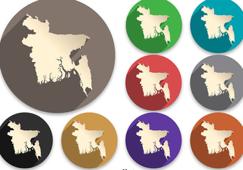 Vector Bangladesh Map Icon - Free vector #360393