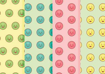 Vector Emoticons Patterns - Kostenloses vector #360433