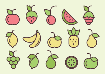 Vector Fruits - Kostenloses vector #360463