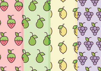 Vector Fruits Patterns - Free vector #360483