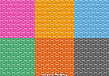 Vector Seamless Patterns Of Bubble Wrap Set - Free vector #360593