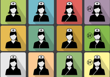 Nurse Icon Vector Set - vector gratuit #360673