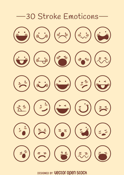 Emoticons outline collection - Kostenloses vector #360763