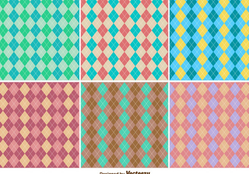 Classic Seamless Rhombus Argyle Vector Patterns Set - бесплатный vector #360783