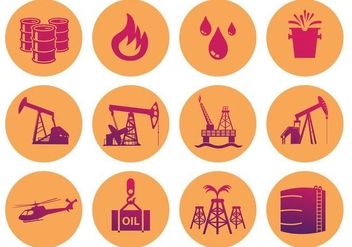 Oil Field Icon - Free vector #360823