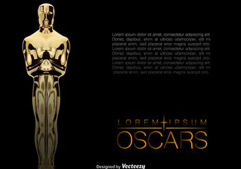Vector Realistic Golden Oscar Statue Background - бесплатный vector #360963