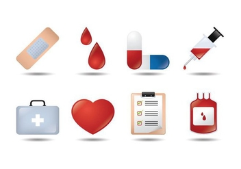Medical 3D Icon Vectors - Free vector #361013
