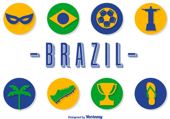 Vector Brazil Icons Set - бесплатный vector #361043