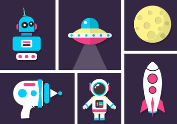 Space Vector Icons - бесплатный vector #361103