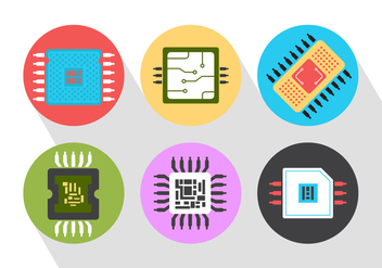Microchip Vector Icons - Free vector #361123