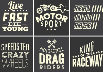 Vintage Race Typography Collection - vector gratuit #361163