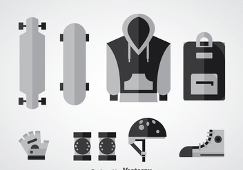 Longboard Equipment Vector - бесплатный vector #361173