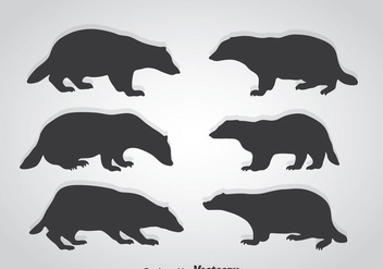 Honey Badger Silhouette Vector - Free vector #361253