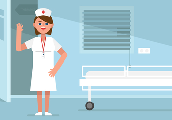 Vector Nurse in Patient Room - vector gratuit #361273