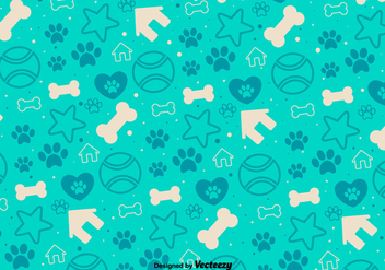 Vector Background With Decorative Puppy Icons - vector gratuit #361293
