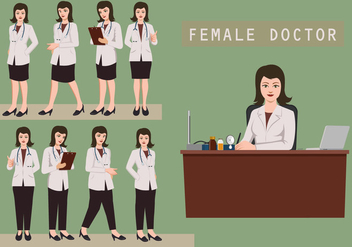 Female Doctor - vector gratuit #361373