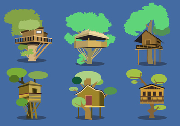 Tree House Vector - vector #361383 gratis